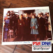 Jimmy And Rosalynn Carter Gerald And Betty Ford Autograph Photo Signed Psa/dna