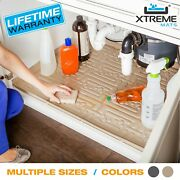 Xtreme Mats Under Sink Kitchen Cabinet Mat Drip Tray Liner - Various Sizes/color