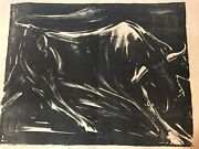Very Rare Whitford Carter Etching Toro En Le Noche 1961 15/25 Signed Large