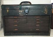 Union Steel Machinist Tool Box - 7 Drawers And Top Till Plus Tools