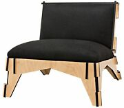 37 W Tony Occasional Chair Hand Crafted Birch Wood Two Tone Contemporary Gothic