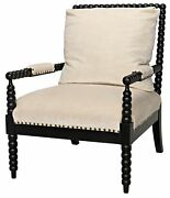 28 W Occasional Chair Solid Hand Turned Mahogany Frame Nail Head Detail