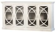 81 L Rosa Sideboard Reclaimed Mango Wood Hand Crafted 4 Glass Panel Doors