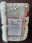 1 Pottery Barn Kids Heritage Santa Euro Quilted Sham New Christmas Sold Out