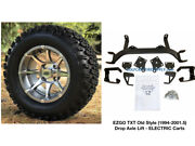 Ezgo Txt Electric 6 Golf Cart Lift Kit + 12 Banshee And 23 All Terrain Tires