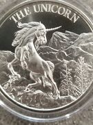 Unicorn 1 Oz .999 Silver Round American Folklore New High Relief Horse Pony Mlp