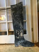 19th Century Shoe Boot Trade Sign, Double Sided, Bracket, Original