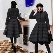 Womens Winter Cotton Padded Bubble Skirt Coat Quilted Parka Slim Jackets Outwear