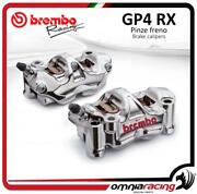 2 Brembo Racing Gp4/rx Gp4rx P4 32 100mm Radial Calipers Sx+dx With Brake Pads