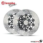 Pair Of Brembo The Groove Front Brake Discs 292mm For Harley Davidson Xr 1200/ X