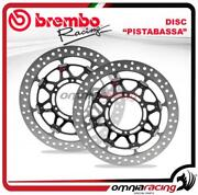 Pair Of Brembo Pistabassa Front Brake Disc 320mm For Yamaha Yzf R1 / R1m 2015