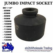 Impact Sockets 6 Point 1-1/2 Dr 80mm To 140mm Jumbo Industrial Truck Machine Hd