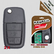 2 Replacement Folding Remote Key Fob 315mhz 4+1 Button For Pontiac G8 2008 2009