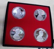 2009 Set Of 4 Lincoln Cent 1 Troy Ounce Silver Rounds, 4-troy Ounces Total