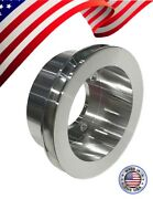 Small Block Ford 289 302 351w 351c Crank Pulley Single Groove 4 Bolt Dampener