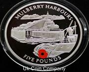 2004 Gibraltar Sterling Silver Andpound5 Five Pound Proof Coin Mulberry Harbour
