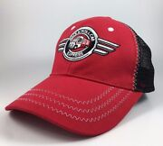 Snap-on Rock Nand039 Roll Cab Express Adjustable Mesh Red And Black Hat