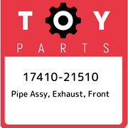 17410-21510 Toyota Pipe Assy, Exhaust, Front 1741021510, New Genuine Oem Part