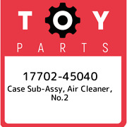17702-45040 Toyota Case Sub-assy Air Cleaner No.2 1770245040 New Genuine Oem