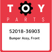 52018-36903 Toyota Bumper Assy Front 5201836903 New Genuine Oem Part