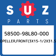 58500-98l80-000 Suzuki Propellerfront3x15-1/2x31.5 5850098l80000 New Genuine