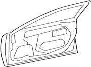 67002-33180 Toyota Panel Sub-assy, Front Door, Lh 6700233180, New Genuine Oem Pa