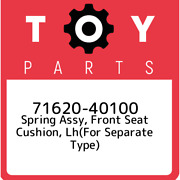 71620-40100 Toyota Spring Assy Front Seat Cushion Lhfor Separate Type 716204