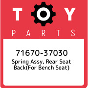 71670-37030 Toyota Spring Assy Rear Seat Backfor Bench Seat 7167037030 New G