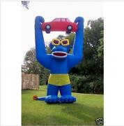 20ft 6m Inflatable Advertising Giant Gorilla Holding A Car With Blower