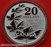 Canada 2011 And 2012 20 Silver Six Coin Set