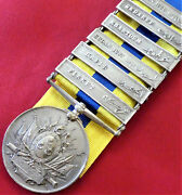 Vintage Rare British Egyptian Army Khediveandrsquos Sudan Medal With 6 Campaign Bars