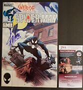 Stan Lee Authentic Hand-signed Web Of Spider-man 1 1984black Costumejsa Coa