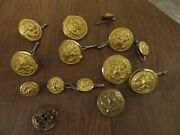 Vintage Military Button Lot Of 28 Misc Buttons