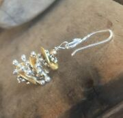 Karen Hill Silver Christmas Tree Holiday Earrings Woman's Gift