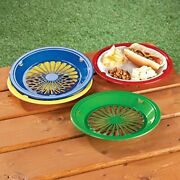 10 Reusable Plastic Paper Plate Holders Assorted Sizes