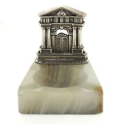 Sterling Silver And Marble Grosvenor House Ashtray Henry C Freeman England 1930