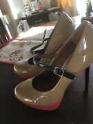 Steve Madden, Size 8.5. Beige/coral 5 Inch Heels. Great Condition