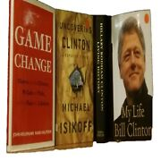 4 Hillary Bill Clinton Books Game Change Living History Uncovering What Happened