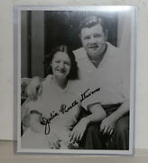 Julia Ruth Stevens Autographed 8x10 Photo W/ Her Dad Ny Yankees Babe Ruth W/coas