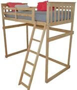 Versaloft Amish-made Yellow Pine Full Mission Loft Beds By Aandl Furniture Company