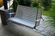 Aandl Furniture Amish-made Poly Winston Porch Swings - 2 Sizes And 14 Colors