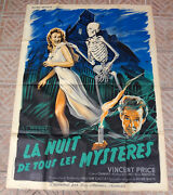 House On Haunted Hill-1959-french Grande-47x63-amazing Original Poster-wild Vf+