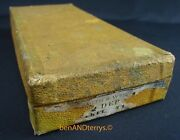 Vintage Smith And Wesson New Departure .32 Mustard Yellow Early Hinged Box