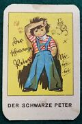 Antique - Schwarzer Peter - Card Game - German Old Maid - W 25 Fairy-tale Cards