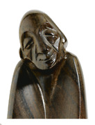 Anton Fortuin Hand-carved Male Figure Signed - Dutch Modernism