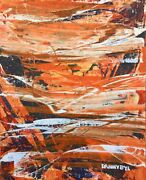 Large Contemporary Original Modern Abstract Tiger Painting Art Dan Byl 4x5ft