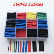 560pcs Cable Heat Shrink Tubing Sleeve Electrical Wire Wrap Tube 21 Assortments
