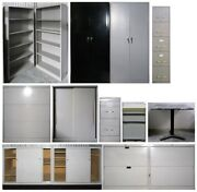 Office Furniture - 14 Pieces Filing Cabinets, Shelving, Storage Cabinets Etc.