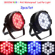 Waterproof 18x10w Rgbw 4in1 Led Par Lights Outdoor Church Concert Party 2pcs
