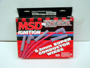 Msd 31839 Sbc 350 Chevy Premade 8.5 Red Spark Plug Wire Hei 90/90 Degree Boots